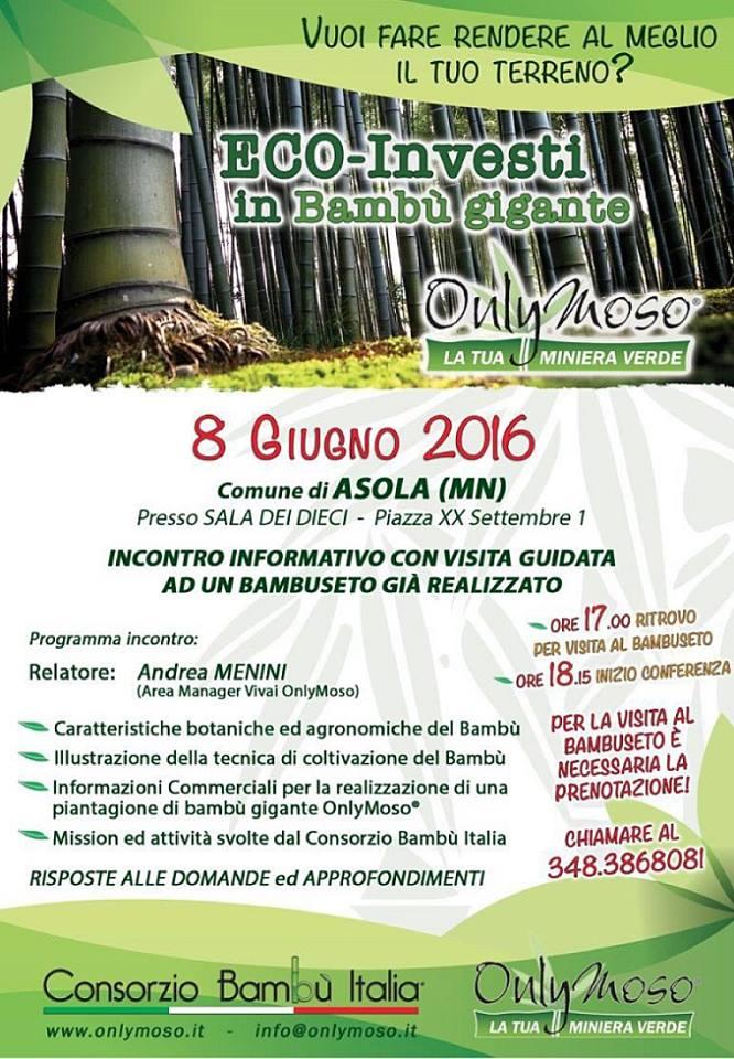 Ad Asola incontro informativo sulla coltivazione del bambù gigante